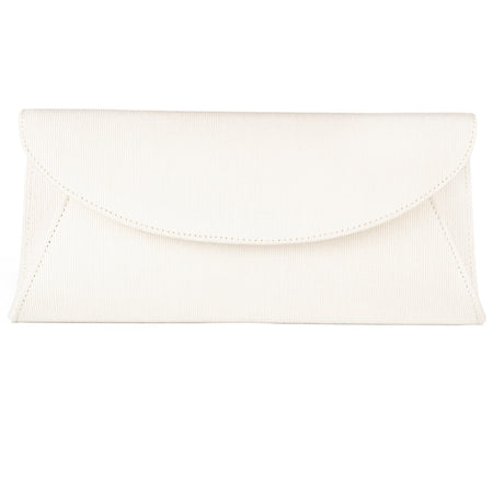 Dyeable Clutch - Ivory Grosgrain