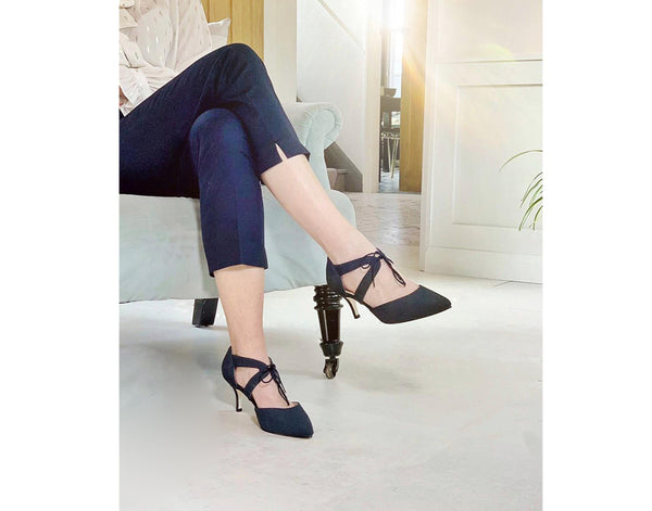 wide fit navy occasion shoes