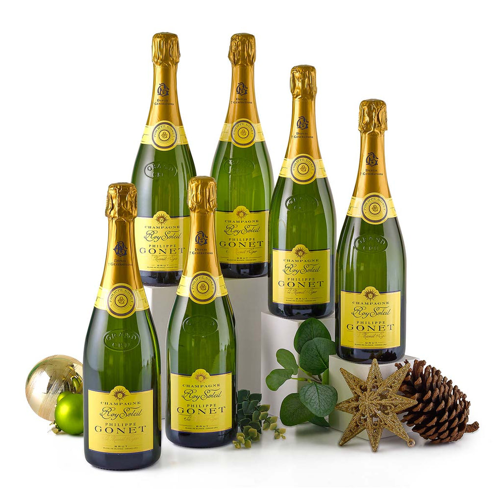 X2029 Champagne Philippe Gonet Roy Soleil Blanc de Blancs Grand Cru Brut N.V.  (6-bottle set)