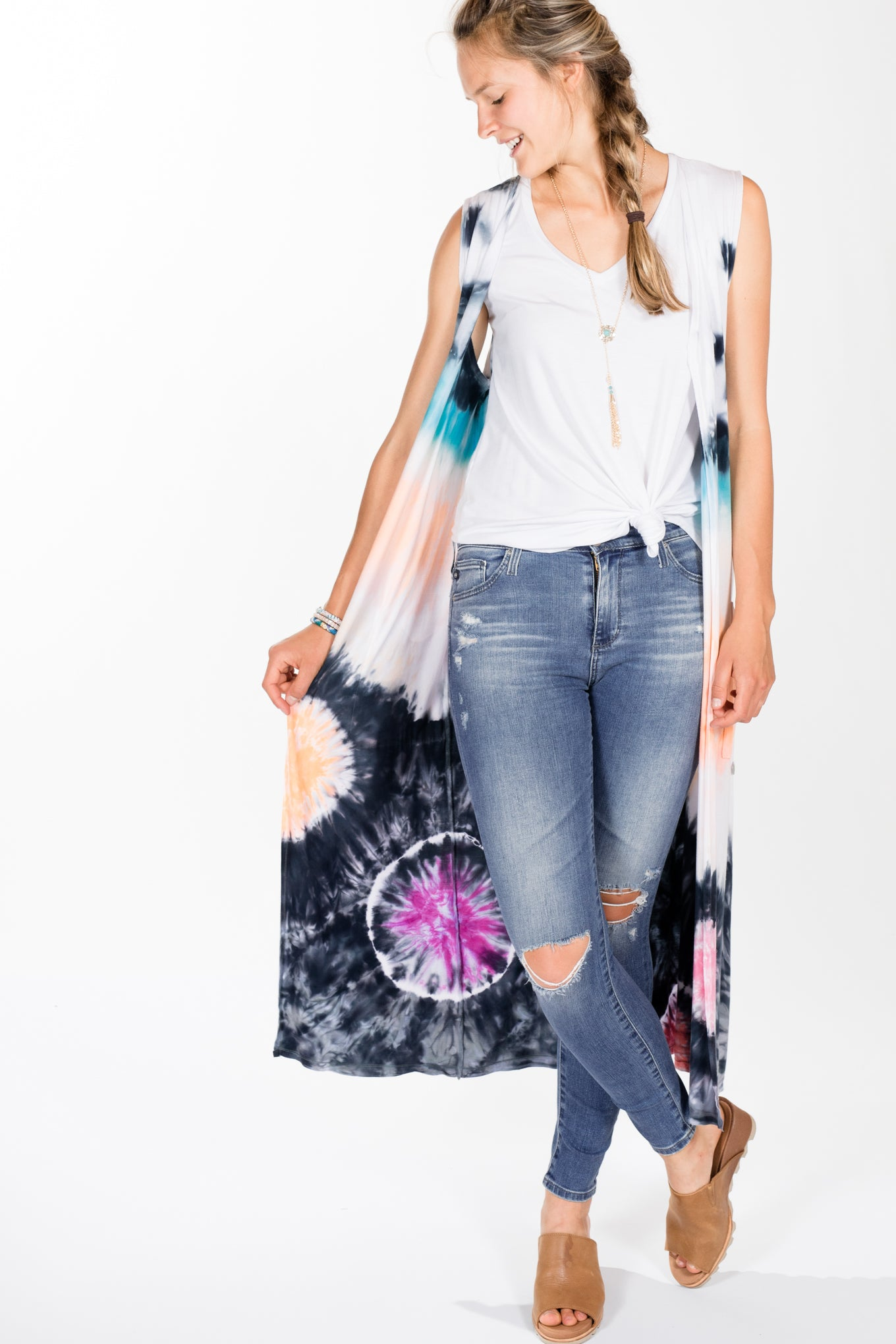 Brightly Twisted.BT Long Vest.Graphic