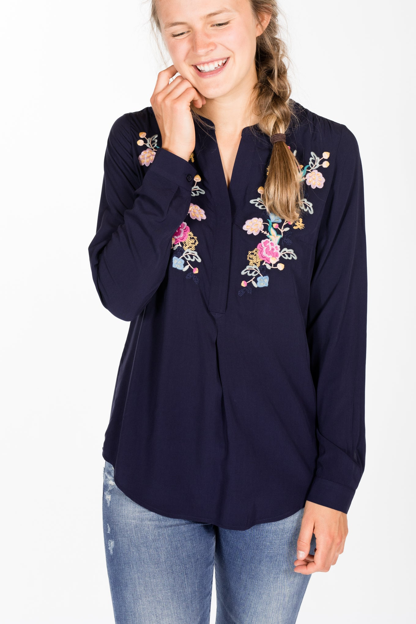 Joules.Rosamunde Blouse.French Navy