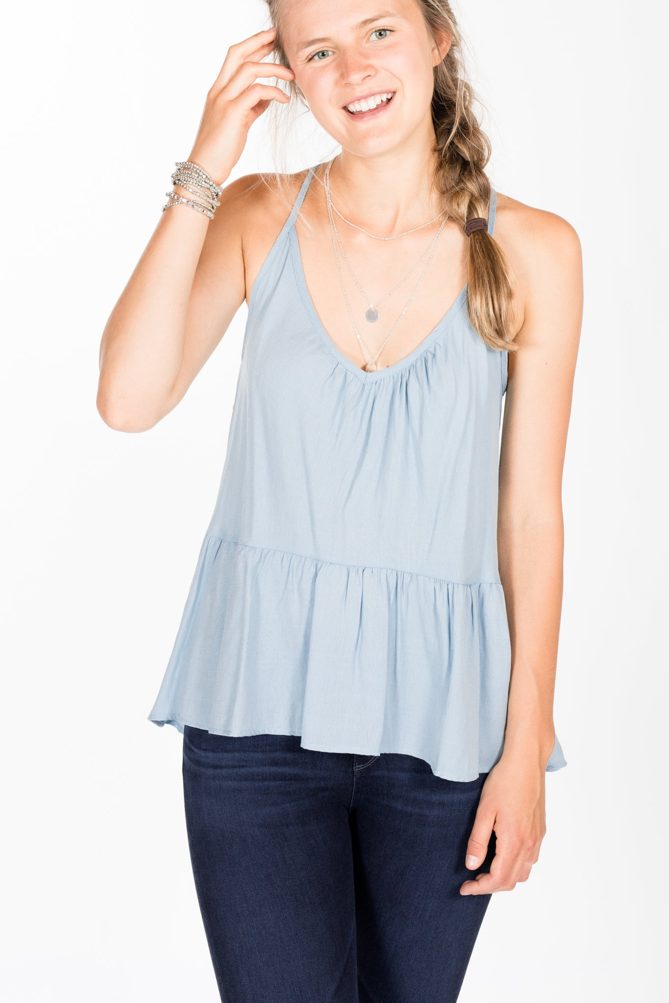 KLD.Cam Halter Top.Blue