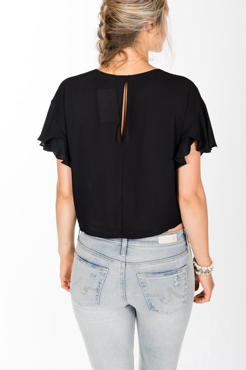 Lush.Knot Front Top.Black