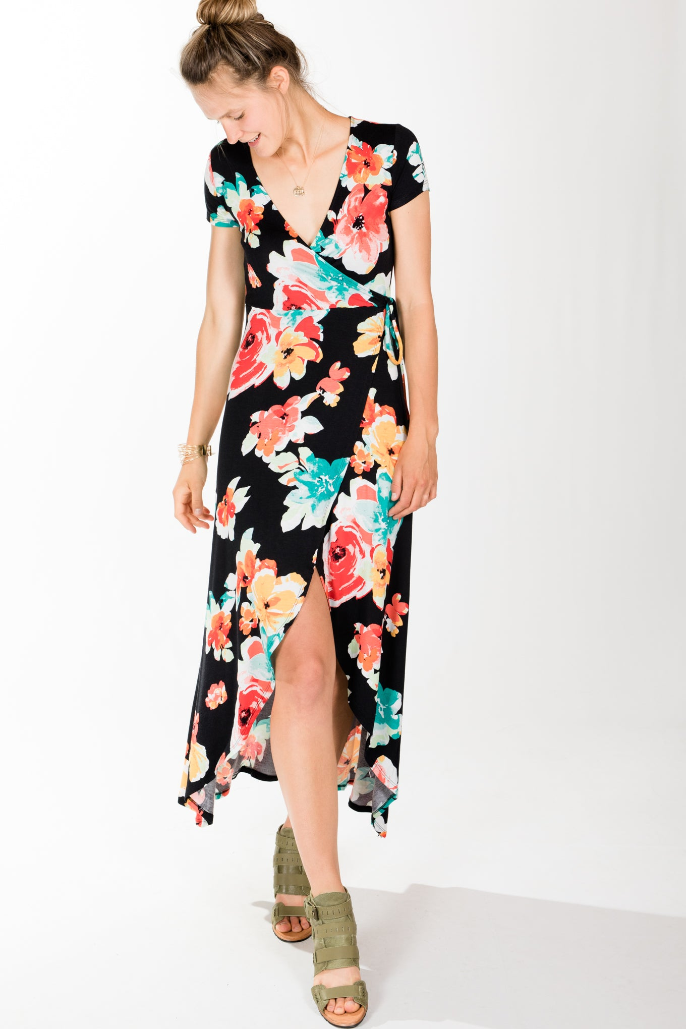 RD Style.Big Flower Maxi.Black Beauty
