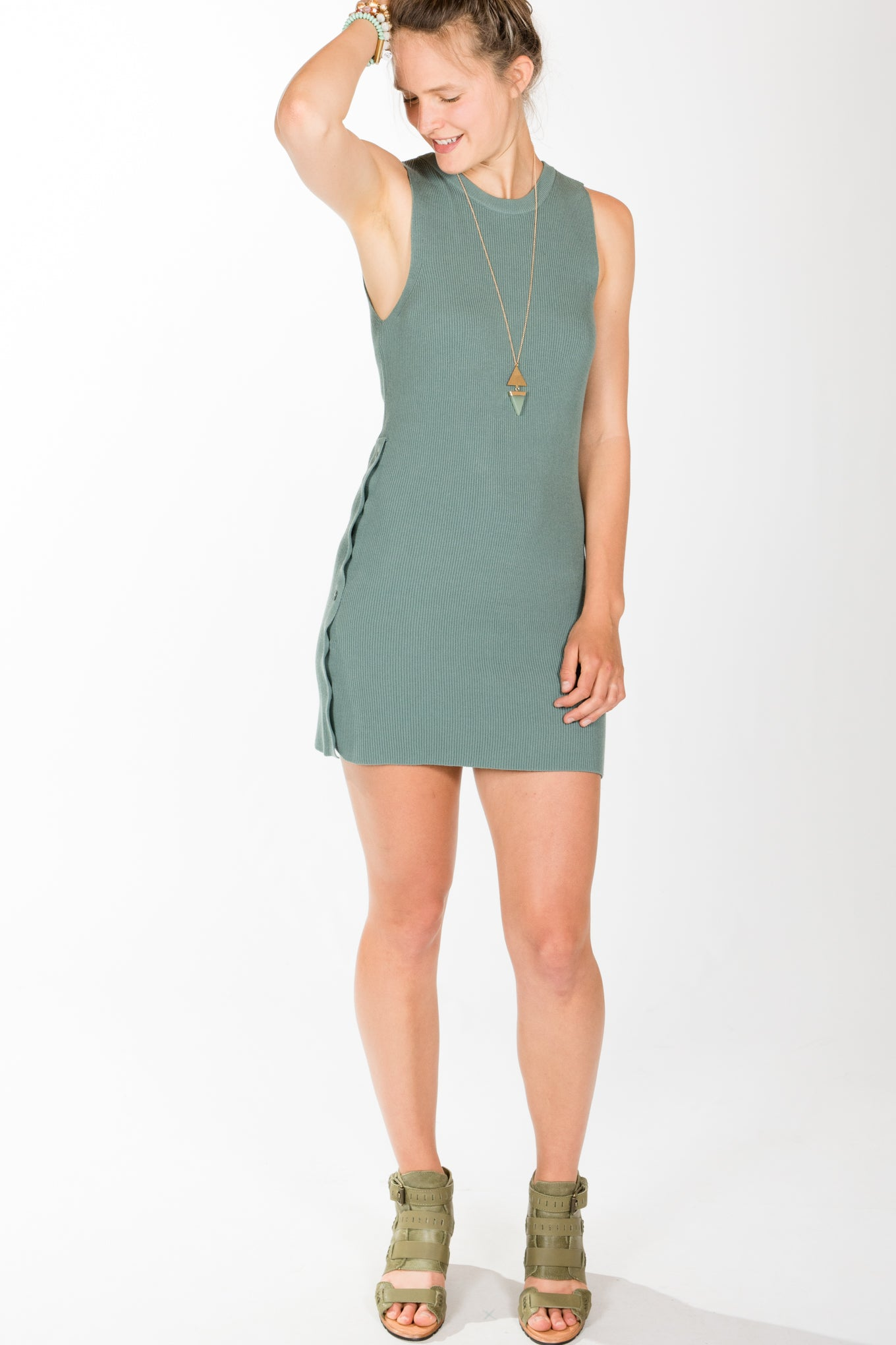 Gentle Fawn.Mandra Dress.Chinois Green