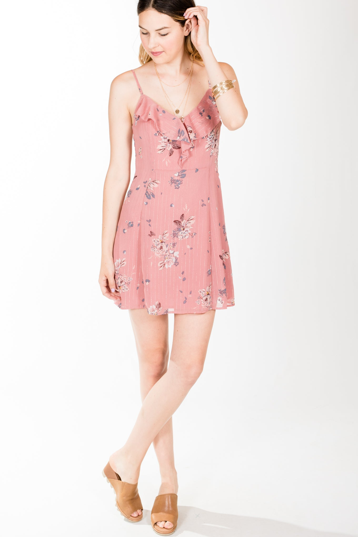 Gentle Fawn .Megara Dress.Rose Tan