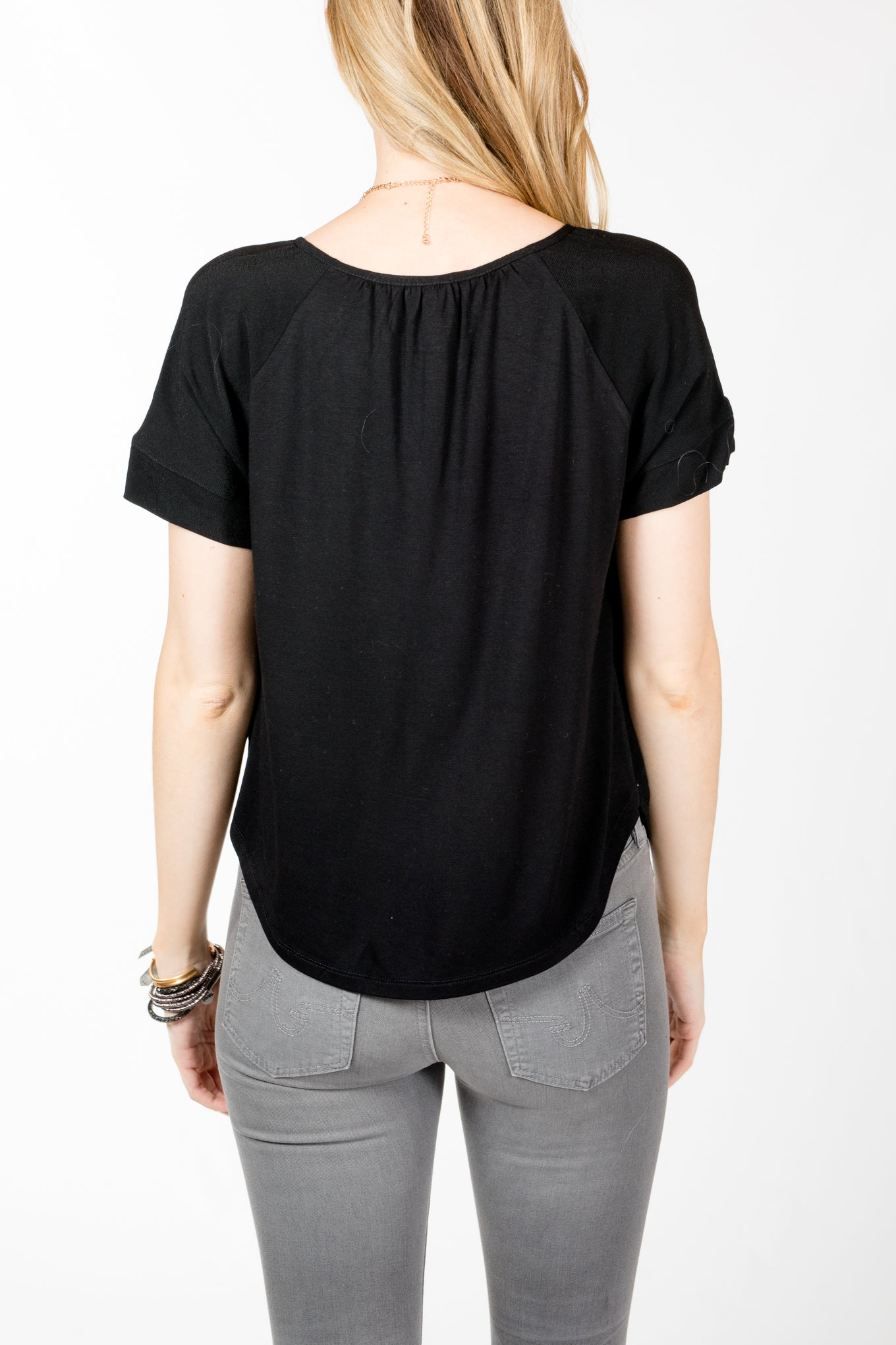 Gentle Fawn.Callie Top.Black