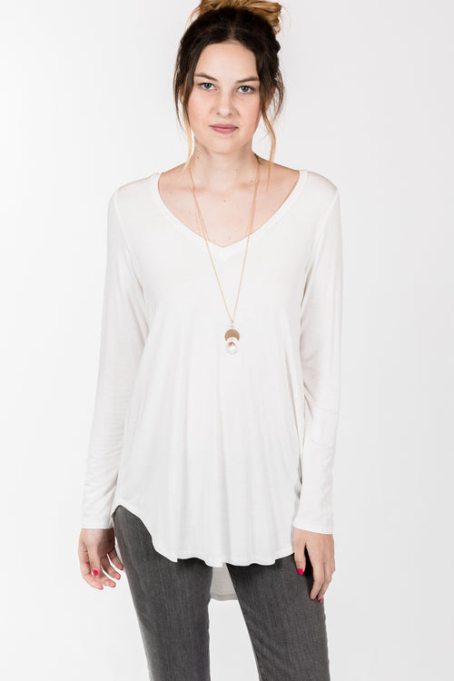 KLD.L/S Hi-Low Tunic.Ivory