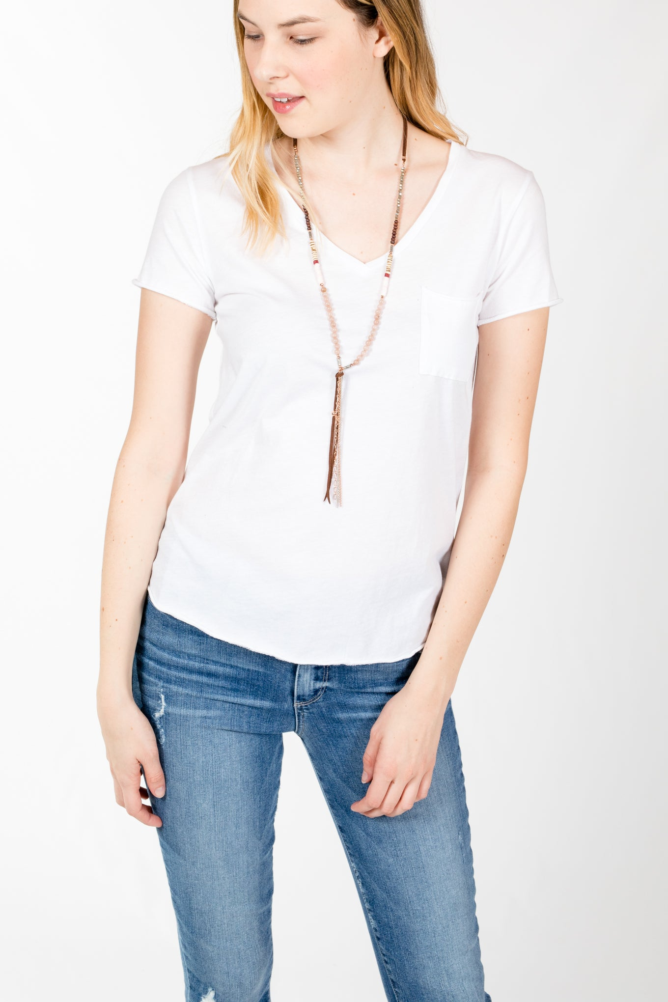 Michelle by Comune.Beverly V Top-Off White