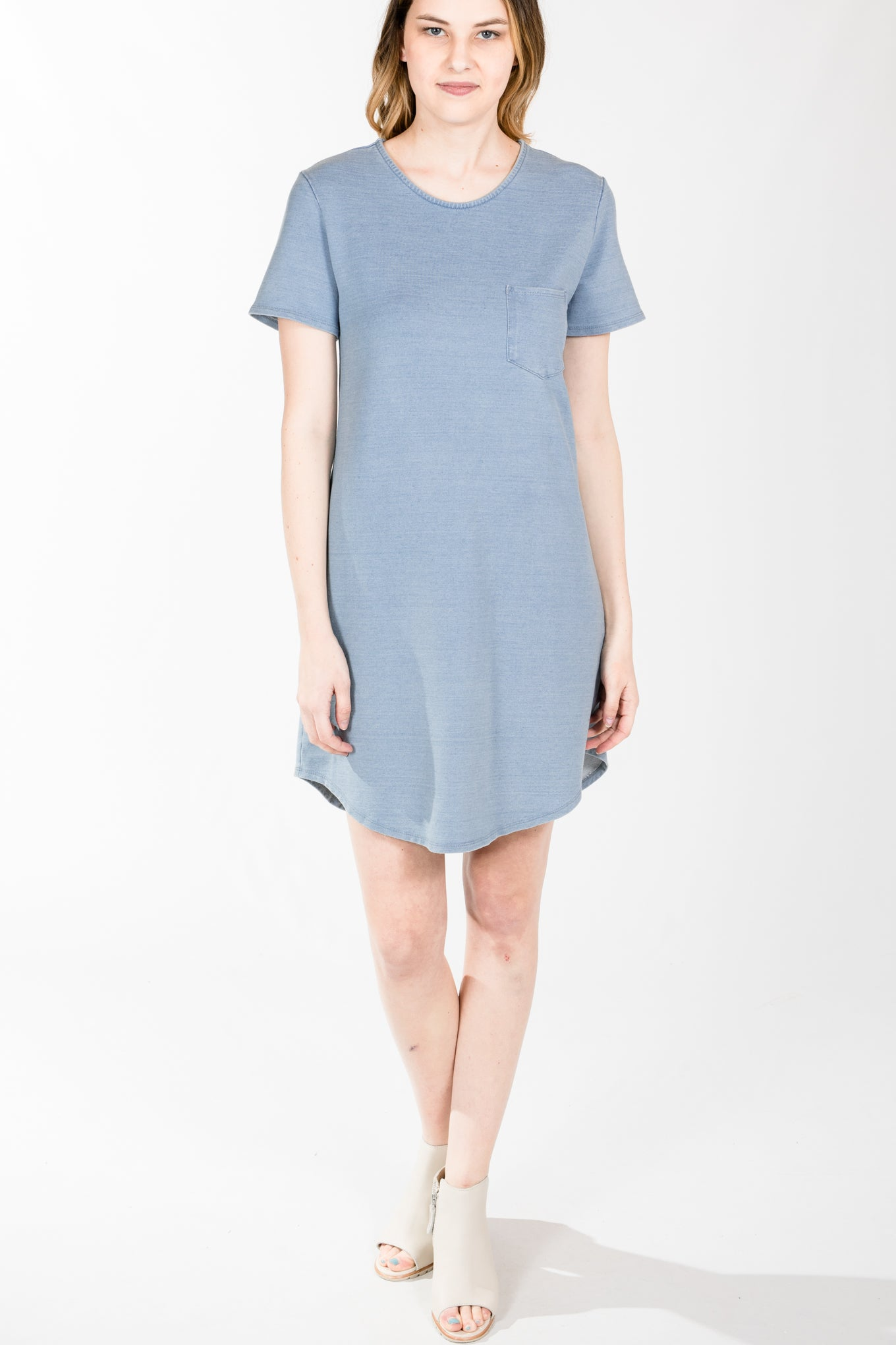 Fifteen Twenty.S/S Pocket Dress.Light Blue
