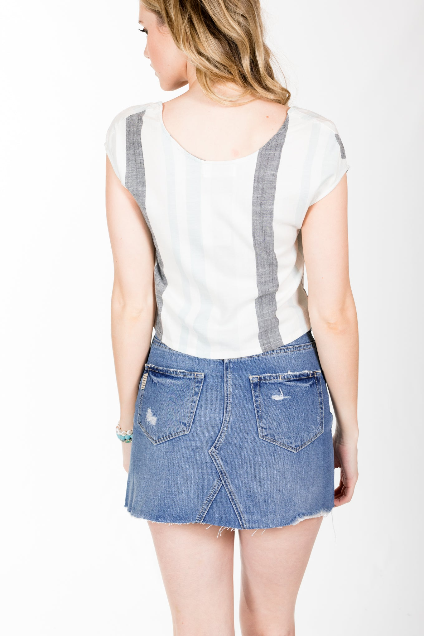 Sam&Lavi Victoria Stripe Top.Martine Stripe