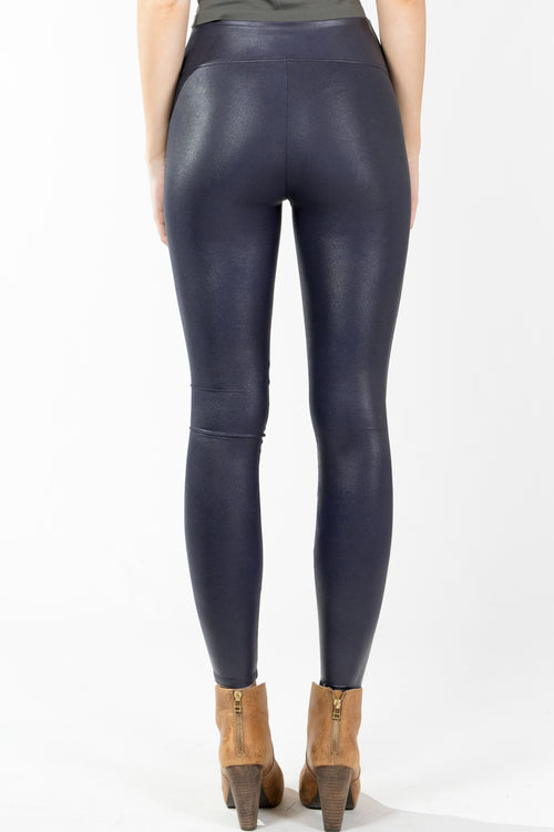 Spanx.Faux Leather Leggings-Night Navy.Night Navy