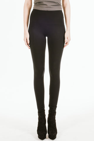 Lysse.  Center Seam Ponte Legging.  Black