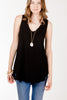 KLD.Hi-Low Tunic Tank Black.Black