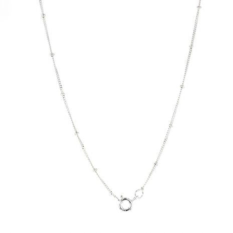 Lotus.Silver Beaded Chain.Sterling Silver