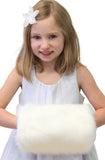 Winter Bridal Ivory Faux Fur Hand Muff kids