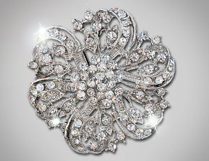 Bridal Crystal Vintage Brooch
