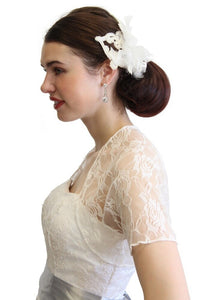 Ivory Lace Bolero With Short Sleeve 720ROS-IVY