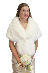 Faux Fur Wrap Bridal Wedding Shrug & Stole