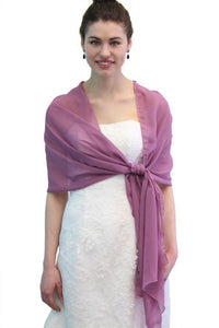 Chiffon Scarf Bridal Wrap Wedding Stole - Light Purple 8139