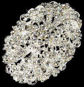 Bridal Crystal Vintage Brooch  56C