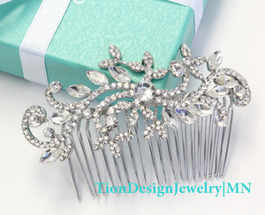 Wedding Hair Comb, Bridal Comb, Vintage Rhinestone Hair Comb