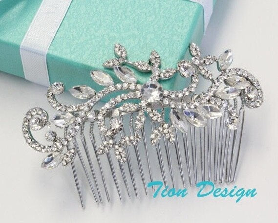 Vintage Wedding Hair Comb, Bridal headpiece Free US shipping