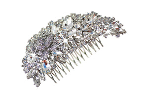Vintage Wedding Hair Comb, Bridal headpiece HC-44