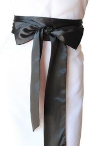 Bridal Satin Sash Black