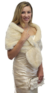 Champagne faux fur stole, faux fur wrap, bridal fur shrug, faux fur shawl