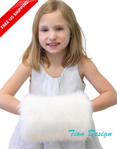 Snow White Girls Faux Fur Hand Muff