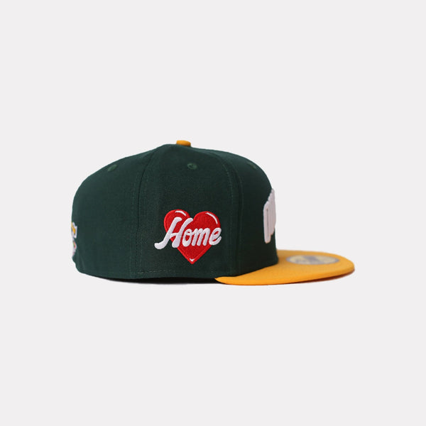 """QUARTIER"" NEW ERA 59FIFTY FITTED (GREEN/YELLOW)"