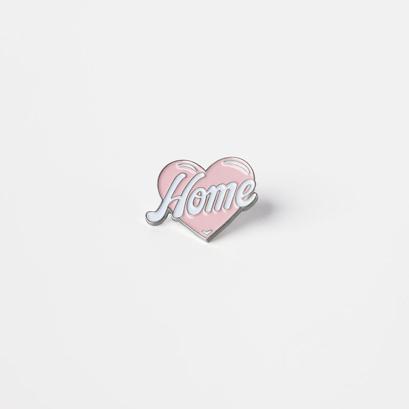 """LOVE HOME"" PIN (PINK)"