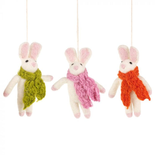 Felt So Good Cosy Bunny Hanging Decoration