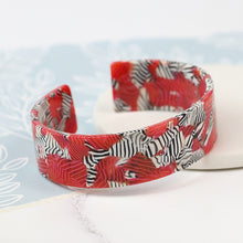 Load image into Gallery viewer, POM Acrylic Zebra Striped Bangle