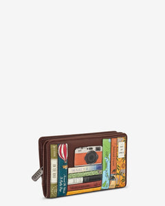 Yoshi Bookworm Zip Around Purse With Popper