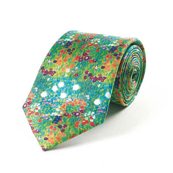 Fox and Chave Klimt Flower Garden Tie