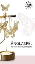 Load image into Gallery viewer, Gold Butterfly Rotary Candle Holder
