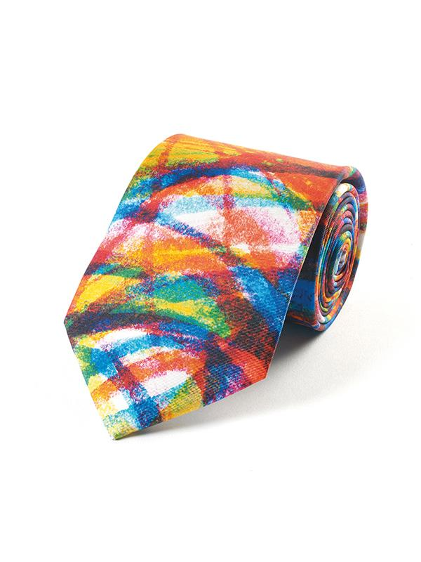 Fox and Chave Colour Swirl Tie