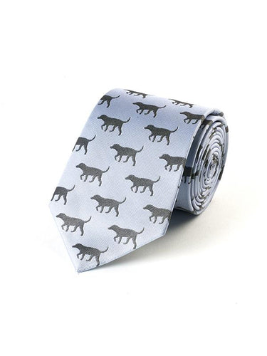 Fox and Chave Black Lab Blue Tie