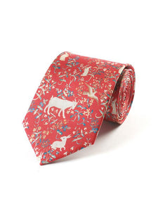 Fox & Chave Cluny Tapestry Red Tie