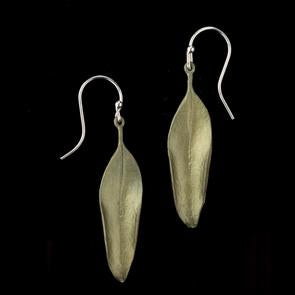 Michael Michaud Mountain Laurel Leaf Wire Earring