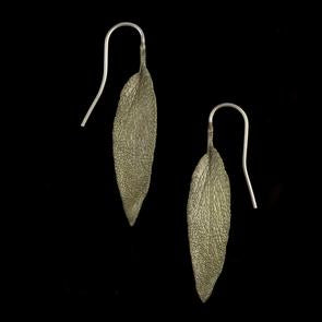 Michael Michaud Sage Leaf Earrings