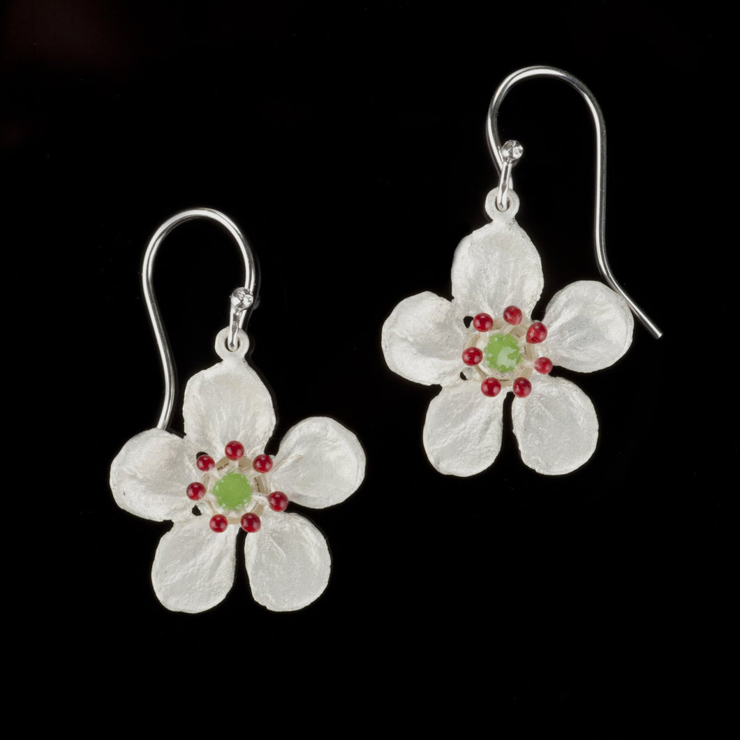 Michael Michaud Survivor Flower Wire Drop Earrings