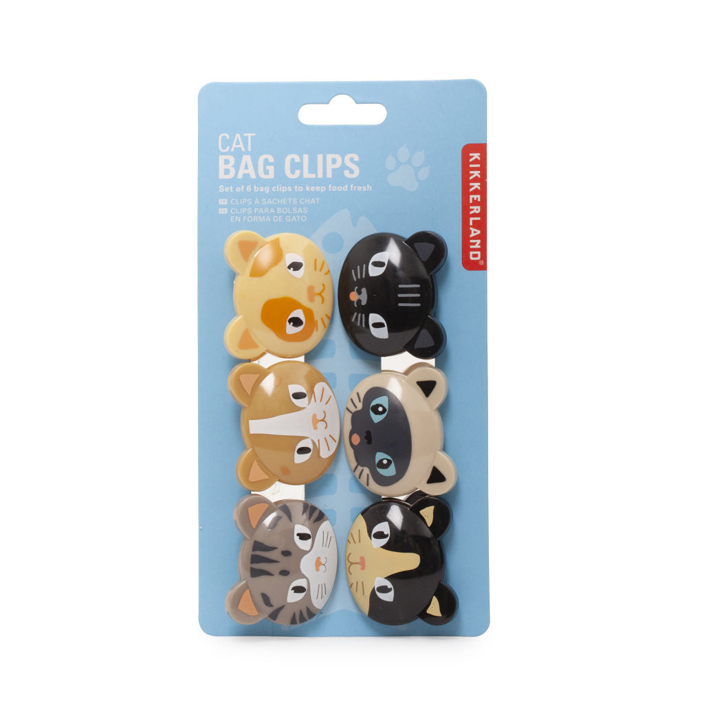 Kikkerland Cat Bag Clips