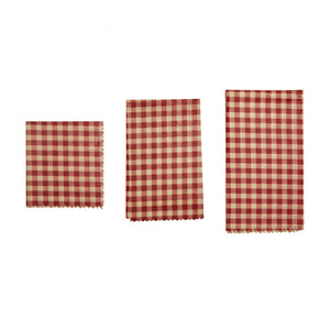 Gingham Beeswax Wrap