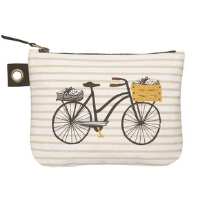 Cubic Bicycle Large Zipper Pouch
