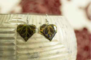 Acdria Dark Ivy Leaf Earrings
