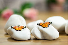 Load image into Gallery viewer, Acdria Small Tiger Butterfly Earrings