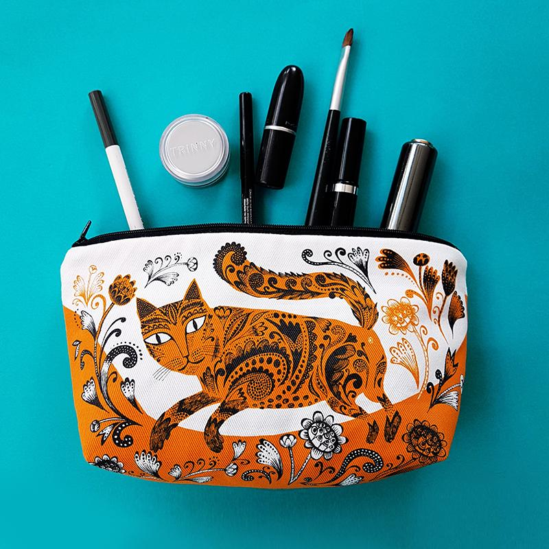 Lush Designs Kitty Cosmetic Bag